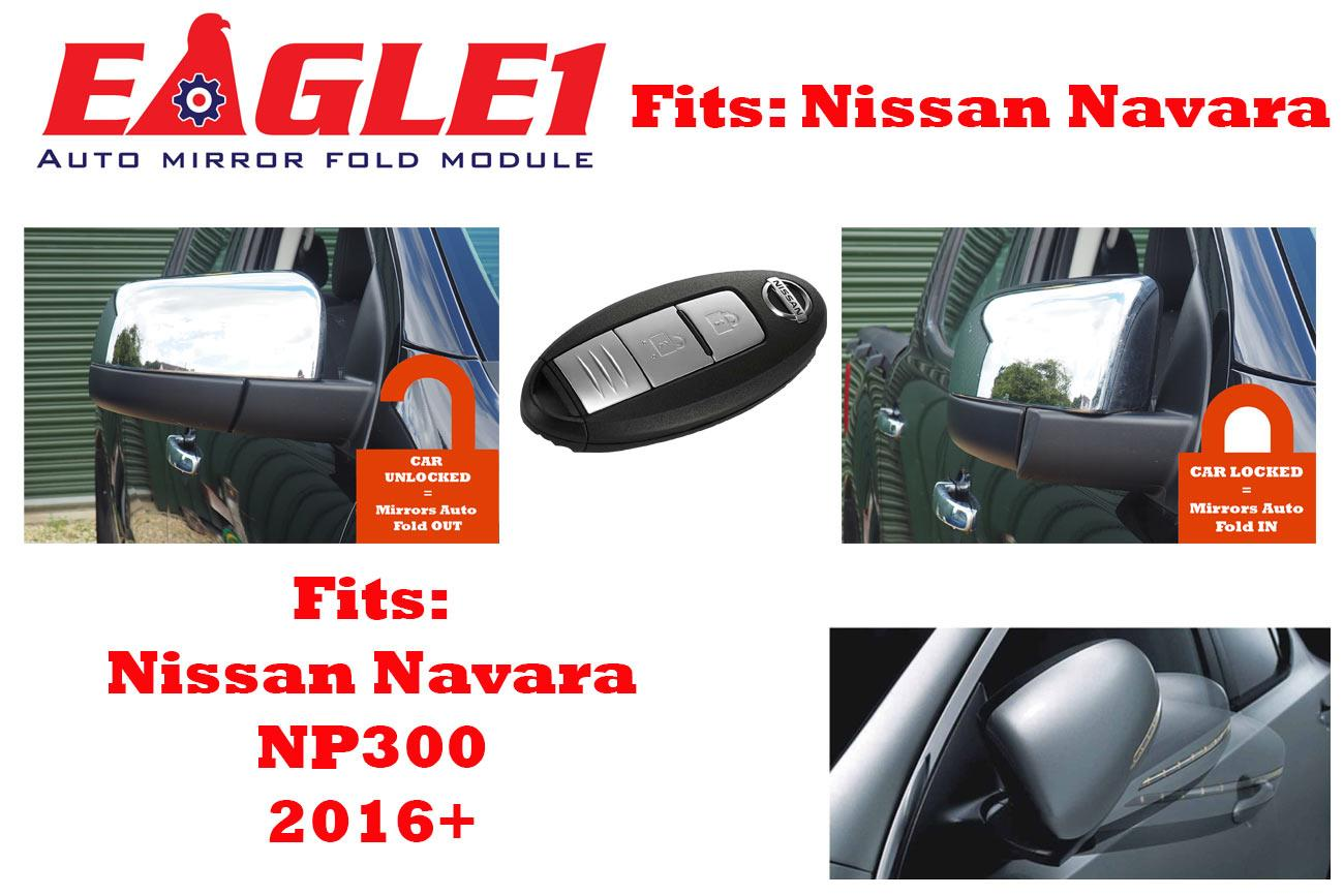 STX NISSAN NAVARA NP300 2016 ONWARDS AUTOMATIC FOLDING MIRROR KIT