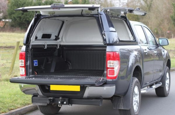 Ford Ranger T6 Hardtop Canopy - Max Commerial - With Side Opening Doors