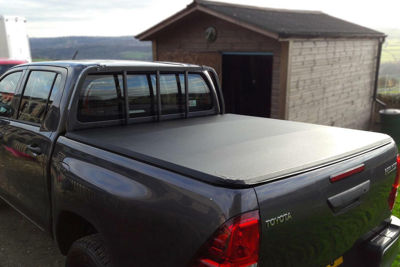 Toyota Hilux Soft Roll Up Tonneau Cover Flash Cover Fits With Ladder Rack Eagle 4x4