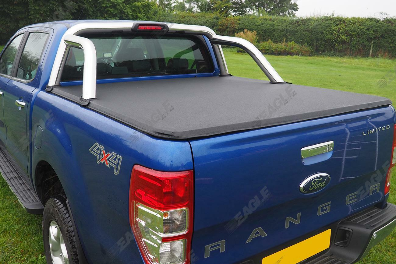 Ford Ranger T6 2012 Soft Roll Up Cover Wth Oe Sports Bar Eagle 4x4
