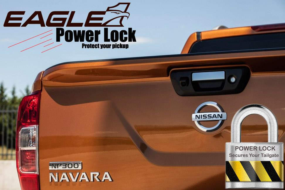 Nissan Navara NP300 2016 on Tailgate Lock Central Locking Power Lock Kit