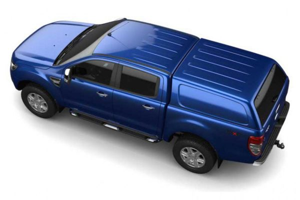 Ford Ranger T6 Blue Hardtop Canopy - Aeroklas Commercial - Solid sides