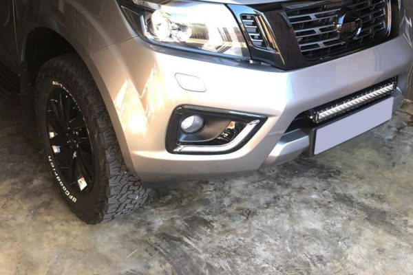 Nissan Navara NP300 - Fog Light Surrounds - With DRL - Gloss Black