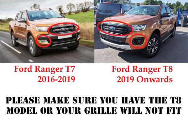 Ford Ranger T8 2019+ Stealth Grille Insert