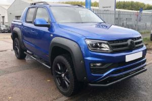 VW Amarok V6 Fender Flare Wheel Arch Extensions - Rocky Style - Matte Black