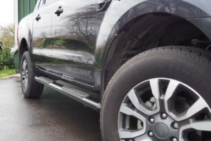 Ford Ranger Black Oval Side Steps