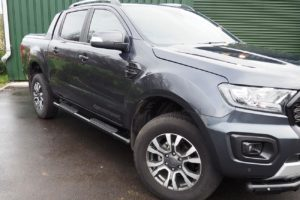 Toyota Hilux Black Side Steps