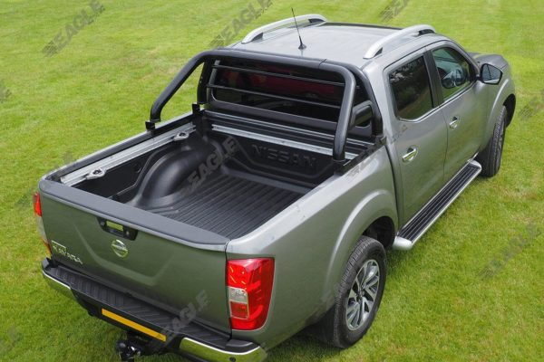 Nissan Navara NP300 Hawk Roll Bar BLACK - Fits with Tonneau Cover