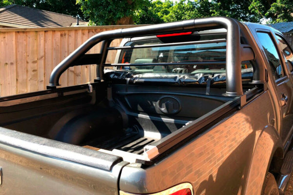 Great Wall Steed Soft Roll Tonneau and Matte Black Roll Bar COMBO