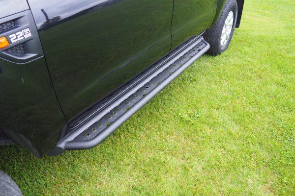 Toyota Hilux Black Side Steps