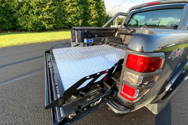 Ford Ranger Hawk Truck Bed Sliding Tray - Chequered Plate