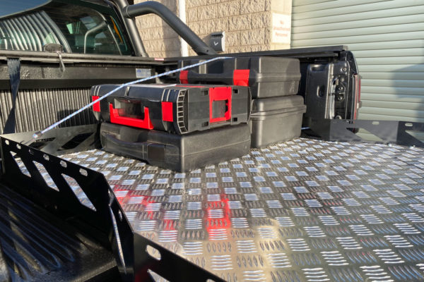 Fiat Fullback Hawk Truck Bed Sliding Tray - Chequered Plate