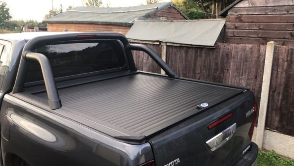 Toyota Hilux Rocco Armadillo Roller Shutter Tonneau Cover with Roll Bar Available