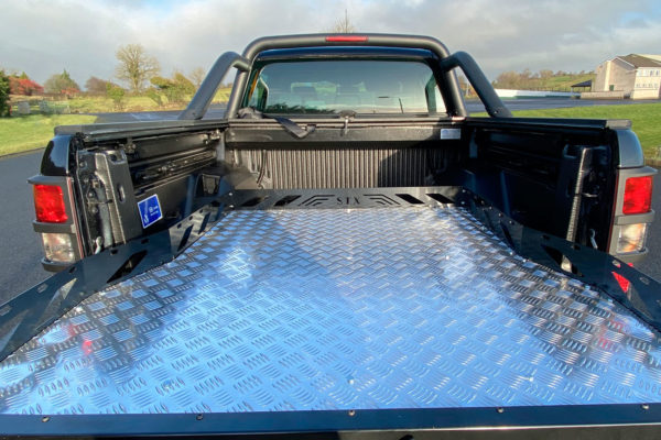 Renault Alaskan Hawk Truck Bed Sliding Tray - Chequered Plate