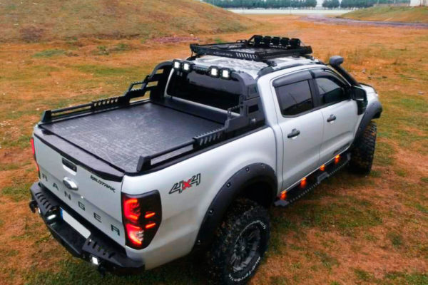 Ford Ranger Combat Black Roll Bar with LED Work Lights