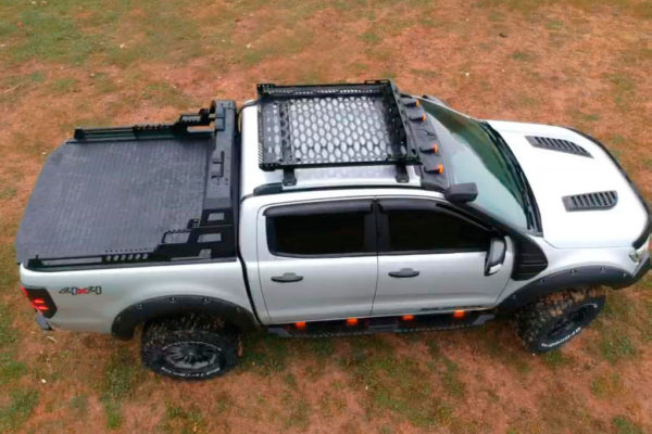 Ford Ranger Combat Roll Bar Black with LED Light Pods