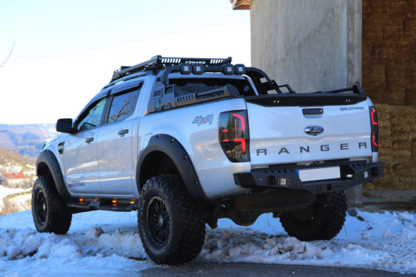 Ford Ranger Roll Bar Combat Black with LED Light Pods