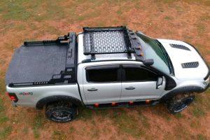 Nissan Navara NP300 Combat Black Roll Bar with LED Light Pods