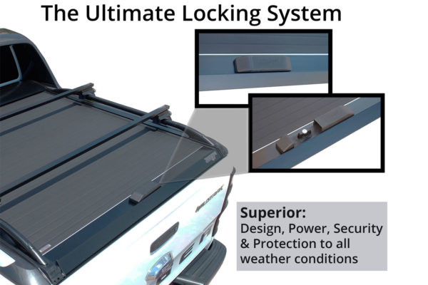 Isuzu Dmax Extended Cab Tesser Roll and Lock Tonneau Cover Secure