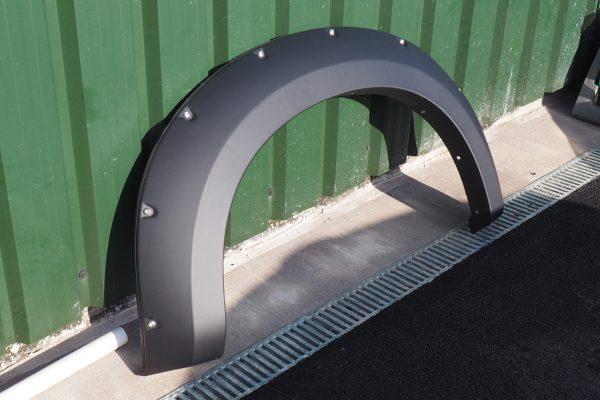 Isuzu Dmax Fender Flare Wheel Arch Extensions - Rocky Style - Matte Black