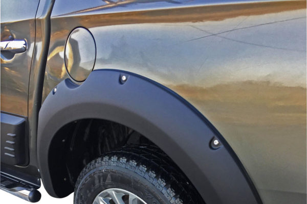 Mitsubishi L200 Series 5 2016- Fender Flare Wheel Arch Extensions - Rocky Style - Matte Black