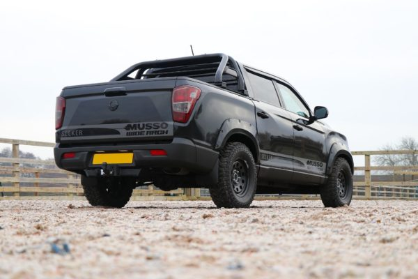 Ssangyong Musso 2018+ Rocky Style Fender Flares - Wheel Arch Extenions