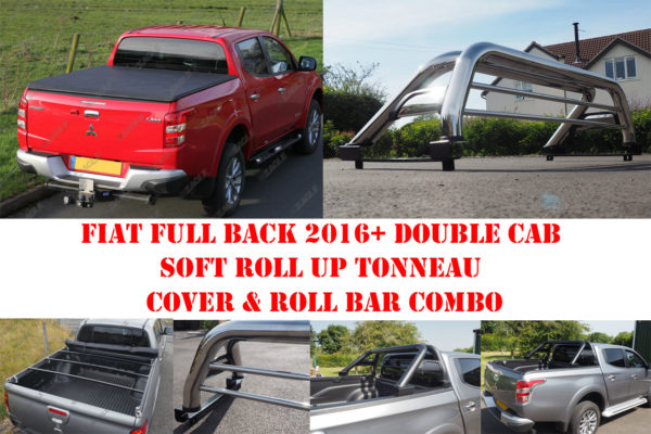 Fiat Full Back Roll Bar and Soft Roll N Lock Tonneau Cover COMBO
