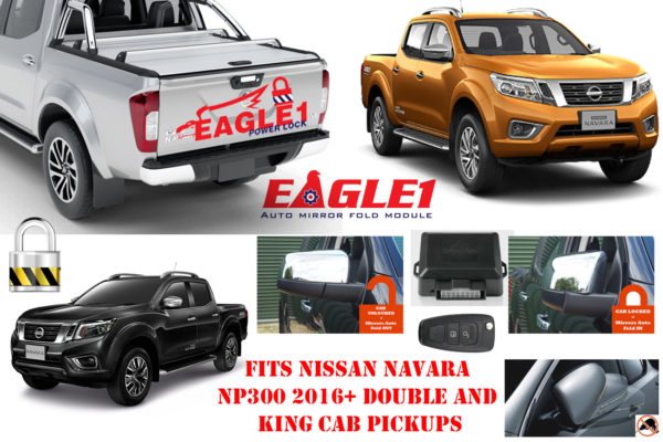 Nissan Navara NP300 Tailgate Lock and Mirror Module COMBO