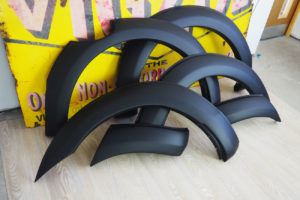 Ford Ranger T6 Smooth Black Wheel Arch Extensions OEM Style