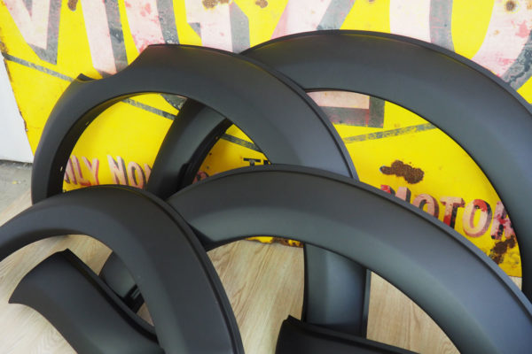 Ford Ranger T7 Smooth Black Wheel Arch Extensions OEM Style