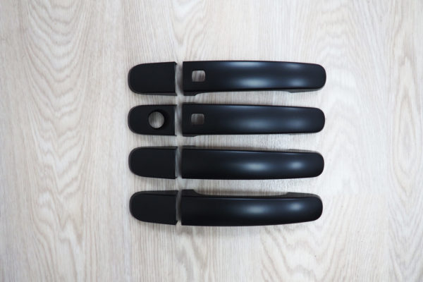 Ford Ranger T8 Door Handle Covers - Black - Keyless Entry