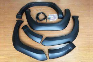 Toyota Hilux Revo Smooth Black Wheel Arch Extension Upgrades Fender Flares