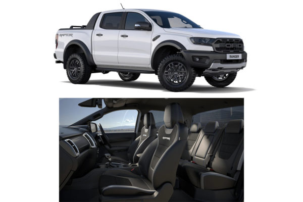 Ford Ranger Raptor 2019+ Tailored Fit Seat Covers Eagle1