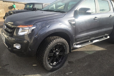 Ford Ranger T8 Wheel Arch Extension Upgrades Wildtrak Grey Modified Bolt-On Style