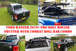 Ford Ranger T8 Pro Roll N Lock Tonneau Cover with Combat Roll Bar COMBO Package