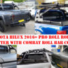 Toyota Hilux 2016+ Pro Roll Roller Shutter with Combat Roll Bar COMBO Package Deal