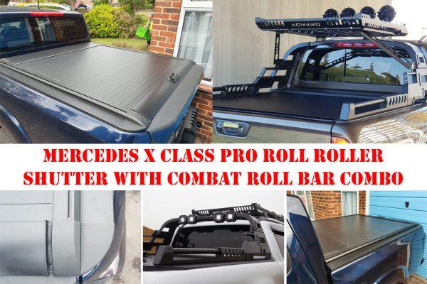 Mercedes X Class Pro Roll Roller Shutter with COMBAT Roll Bar Combo