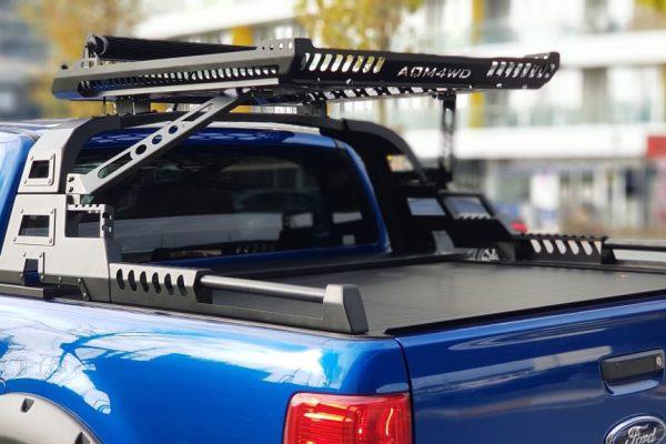 Ford Ranger T6 Tesser Roller Shutter Hard Roll Top Tonneau Cover with Combat Roll Bar Package Deal