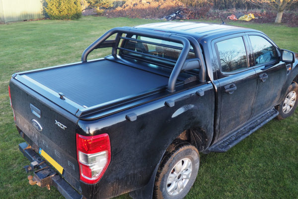 Ford Ranger T8 Tesser Roller Shutter with COMBAT Roll Bar Combo