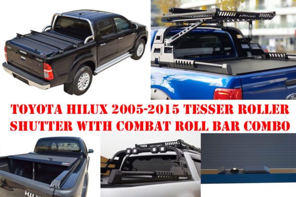 Toyota Hilux 2005-2015 Tesser Roller Shutter with Combat Style Roll Bar