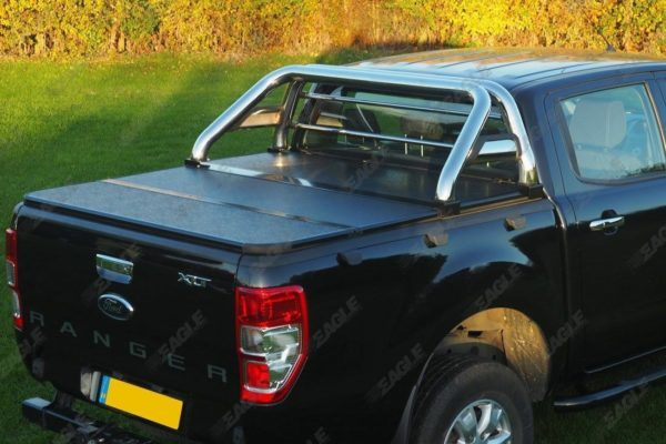 Ford Ranger Soft Folding Tonneau Cover with Roll Bar