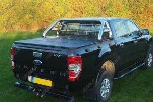 Ford Ranger Soft Fold Tonneau Cover with Roll Bar