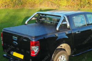 Ford Ranger T7 Soft Roll Up Tonneau Cover and Roll Bar Combo
