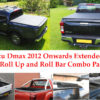 Isuzu Dmax Extended Cab Soft Roll Up Cover and Roll Bar Combo