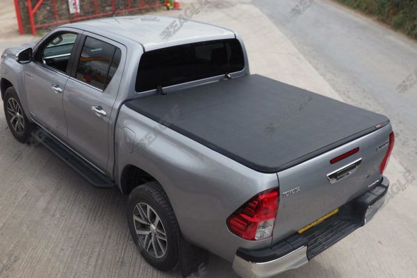 Toyota Hilux (Revo) D/C Soft Roll Up Cover and Roll Bar Combo