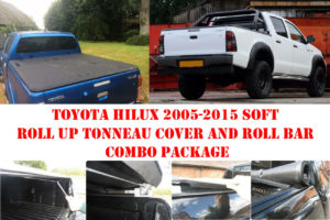 Toyota Hilux 05-15 D/C Soft Roll Up Cover and Roll Bar Combo