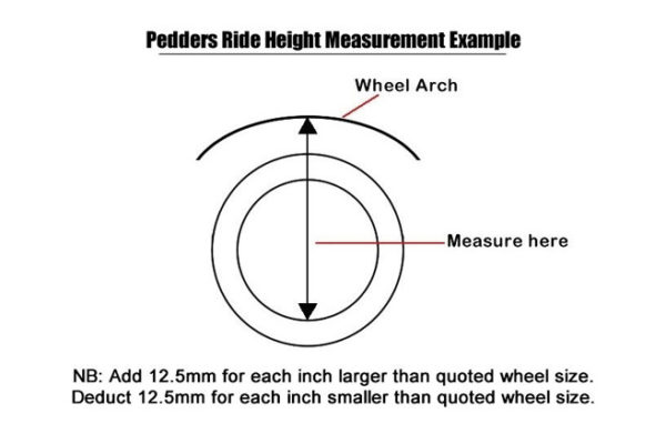 "Isuzu Dmax 2012-17 Suspension Lift Kit 1.75"" Pedders - Improved Ride with Assembled Struts"