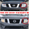 Nissan Navara D40 Headlight AND Rear Light Surrounds - Matte Black - Full Set