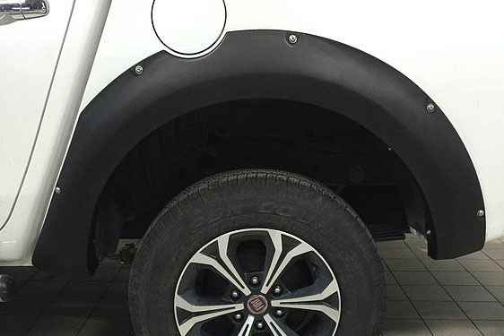 Fiat Full Back Matte Black Wheel Arch Extensions Upgrades Wide with Rivet