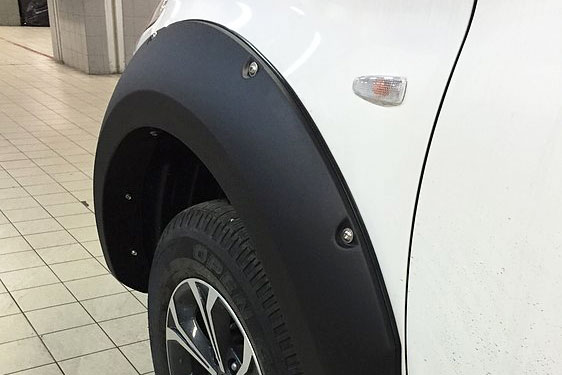 Fiat Full Back Matte Black Wheel Arch Extensions Wide with Rivet